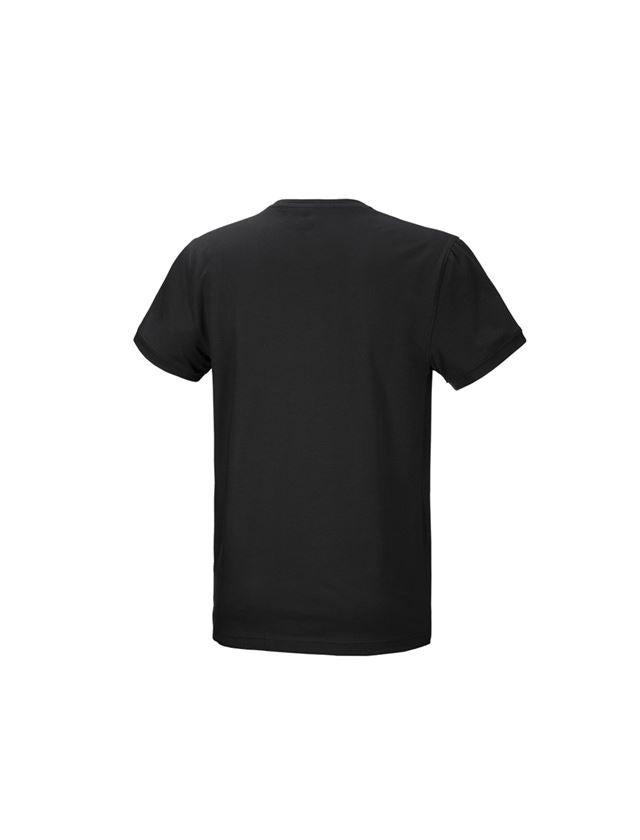 Trička, svetry & košile: e.s. Tričko cotton stretch + černá 3