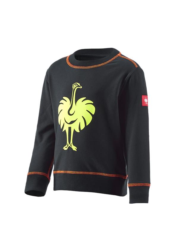 Trička | Svetry | Košile: Mikina e.s.motion 2020, dětská + černá/výstražná žlutá/výstražná oranžová