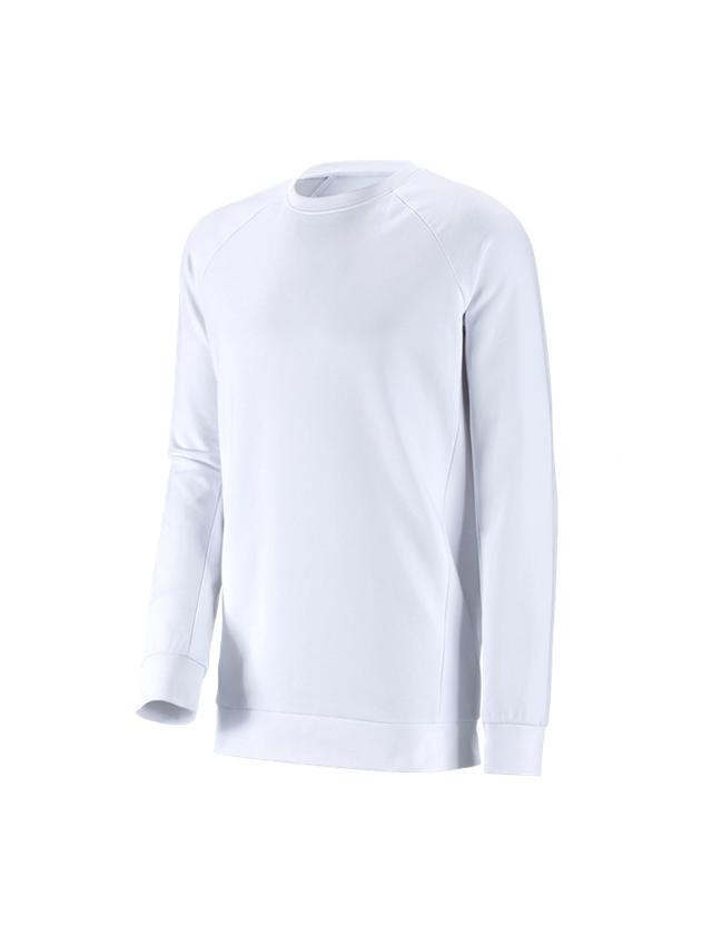 Trička, svetry & košile: e.s. Mikina cotton stretch, long fit + bílá