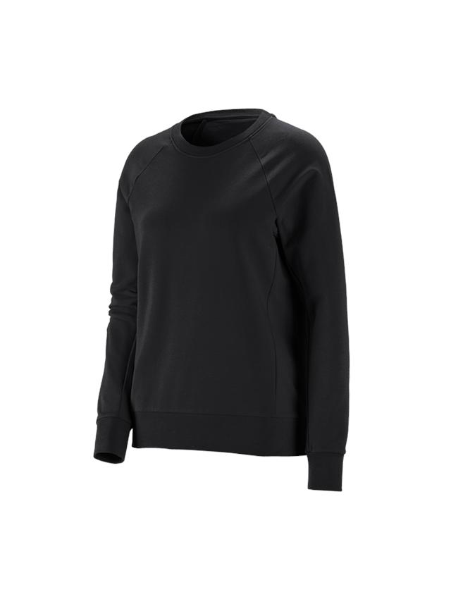 Trička   Svetry   Košile: e.s. Mikina cotton stretch, dámská + černá