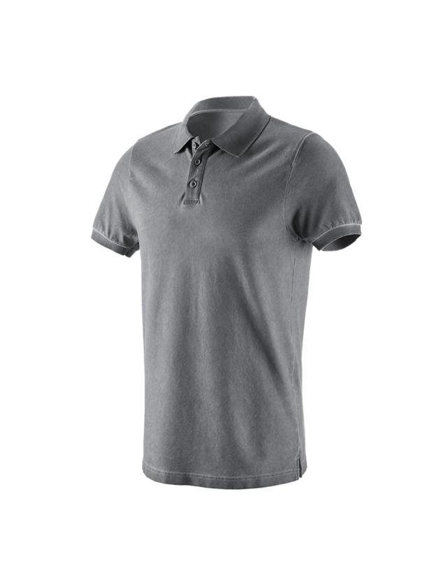 Trička, svetry & košile: e.s. Polo-Tričko vintage cotton stretch + cement vintage