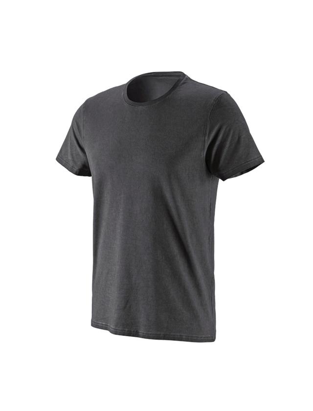 Trička, svetry & košile: e.s. Tričko vintage cotton stretch + oxidově černá vintage