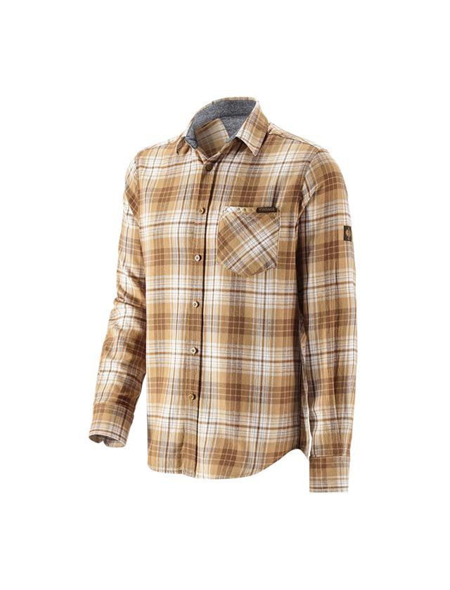 Trička, svetry & košile: Kostkovaná košile e.s.vintage + sépiová károvaná