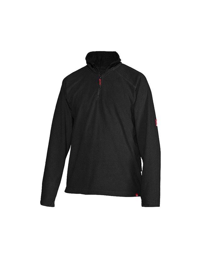 Trička, svetry & košile: Troyer z microfleecu dryplexx® micro + černá