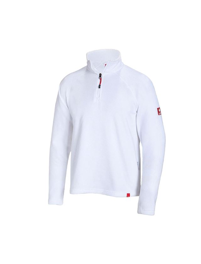 Trička, svetry & košile: Troyer z microfleecu dryplexx® micro + bílá