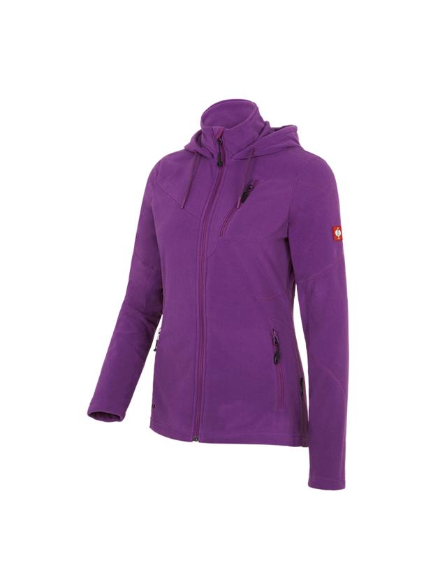 Pracovní bundy: Fleecová bunda s kapucí e.s.motion 2020, dámská + fialová