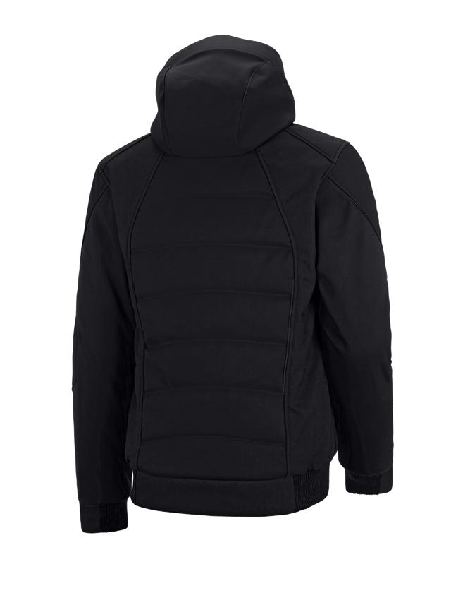Pracovní bundy: Zimní softshellová bunda e.s.vision + černá 2