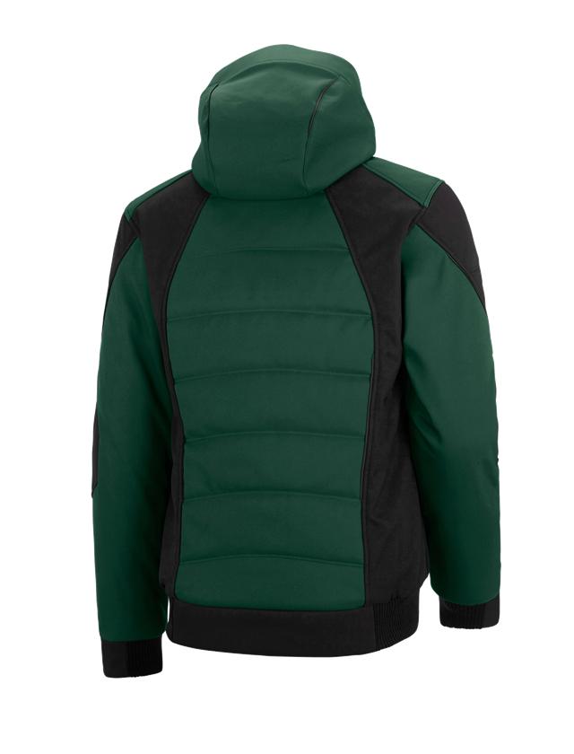 Pracovní bundy: Zimní softshellová bunda e.s.vision + zelená/černá 2