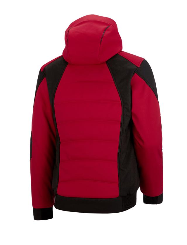 Pracovní bundy: Zimní softshellová bunda e.s.vision + červená/černá 2