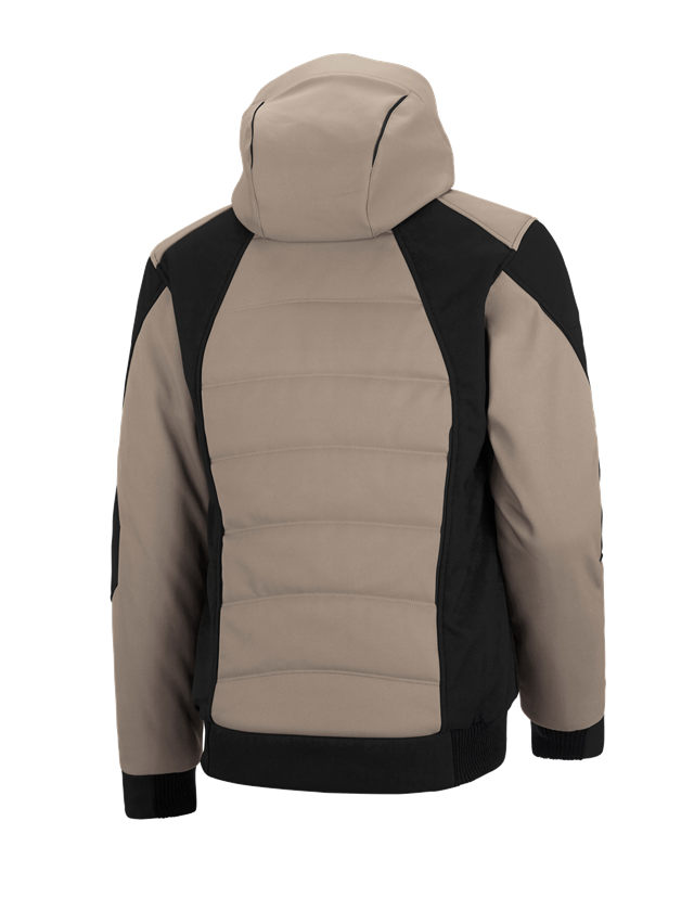 Pracovní bundy: Zimní softshellová bunda e.s.vision + jíl/černá 2