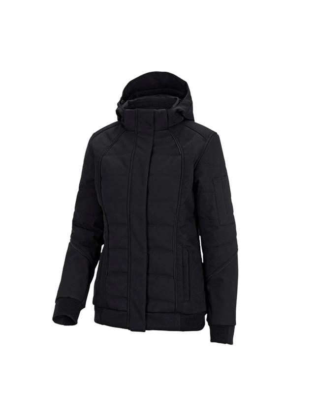 Pracovní bundy: Zimní softshellová bunda e.s.vision, dámské + černá