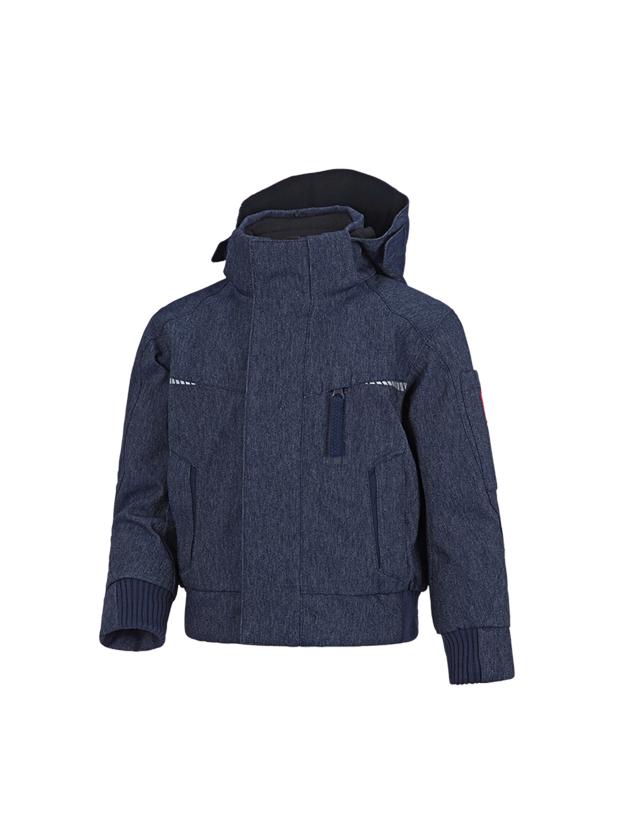 Bundy: Zimní funkční pilotní bunda e.s.motion denim, d. + indigo