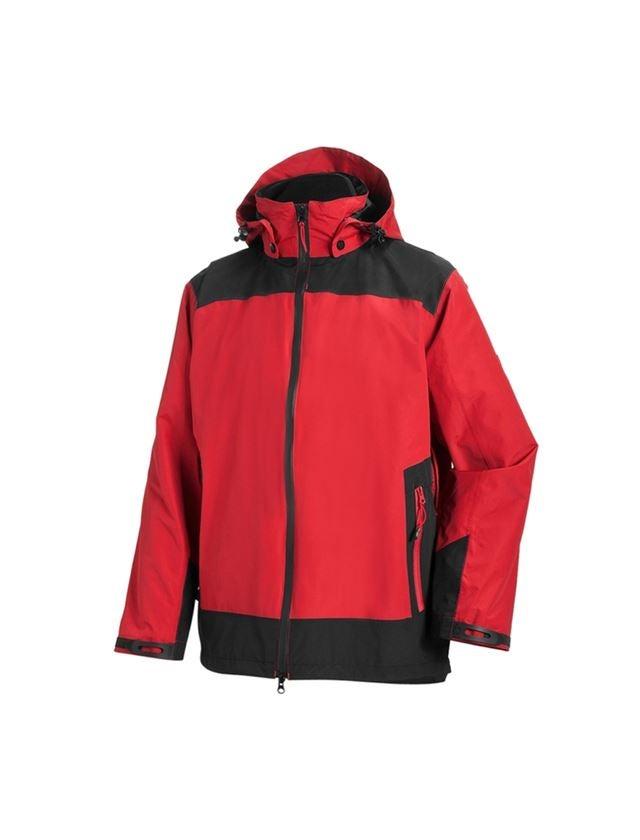 Pracovní bundy: e.s. Funkční bunda  3 v 1, pánská + červená/černá