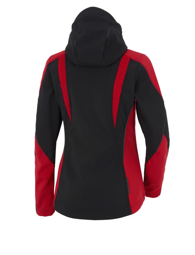 Pracovní bundy: Softshellová bunda e.s.vision, dámská  + černá/červená 2