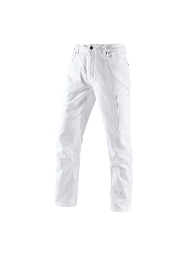 Pracovní kalhoty: e.s. Džíny se 7 kapsami + bílá