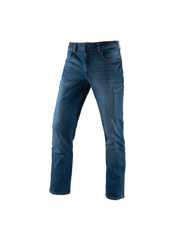 Pracovní kalhoty: e.s. Džíny se 7 kapsami + stonewashed