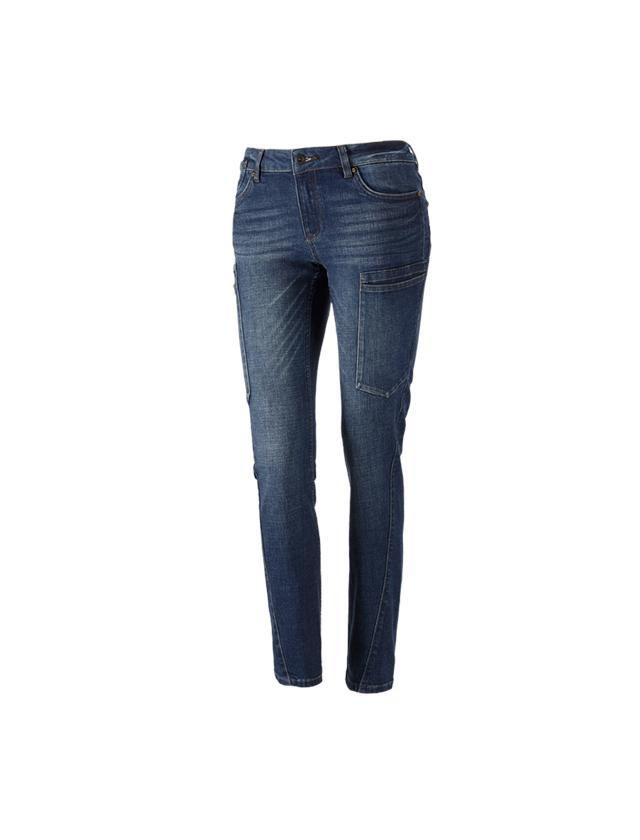Pracovní kalhoty: e.s. Džíny se 7 kapsami, dámské + stonewashed