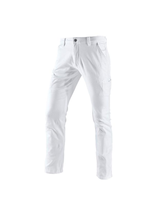 Pracovní kalhoty: e.s. Pracovní kalhoty Chino, pánské + bílá
