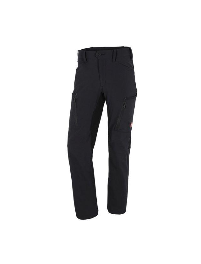 Pracovní kalhoty: Zimní cargo kalhoty e.s.vision stretch, pánské + černá