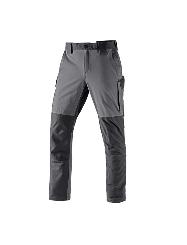 Pracovní kalhoty: Zimní  funkční cargo kalhoty e.s.dynashield + cement/grafit