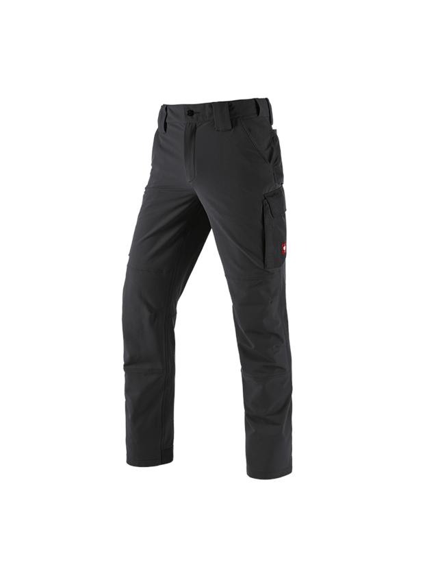 Pracovní kalhoty: Zimní funkční cargo kalhoty e.s.dynashield solid + černá