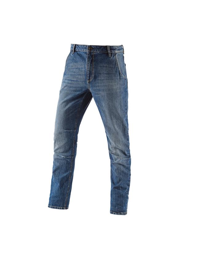 Pracovní kalhoty: e.s. Džíny s 5 kapsami POWERdenim + stonewashed