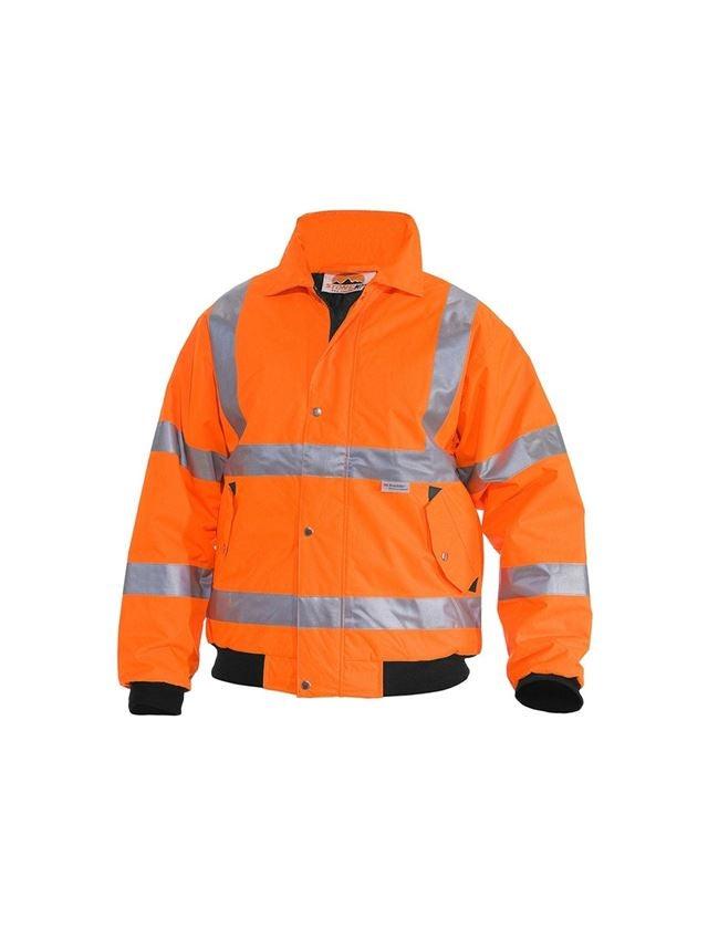Pracovní bundy: STONEKIT Výstražná pilotní bunda + výstražná oranžová