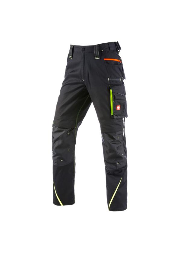 Pracovní kalhoty: Zimní kalhoty do pasu e.s.motion 2020, pánské + černá/výstražná žlutá/výstražná oranžová