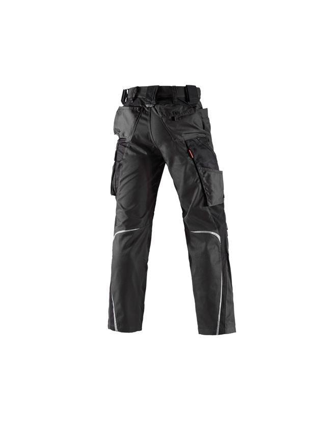 Pracovní kalhoty: Kalhoty do pasu e.s.motion, zimní + černá 2