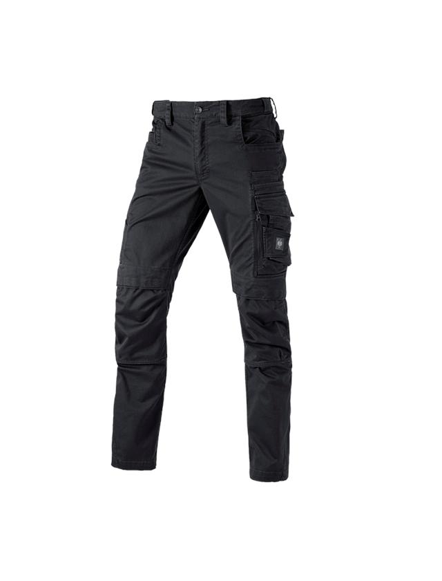 Pracovní kalhoty: Kalhoty do pasu e.s.motion ten + oxidově černá