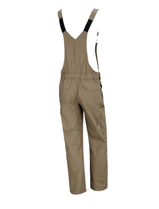 Pracovní kalhoty: STONEKIT Kalhoty s laclem Aalborg + khaki 1