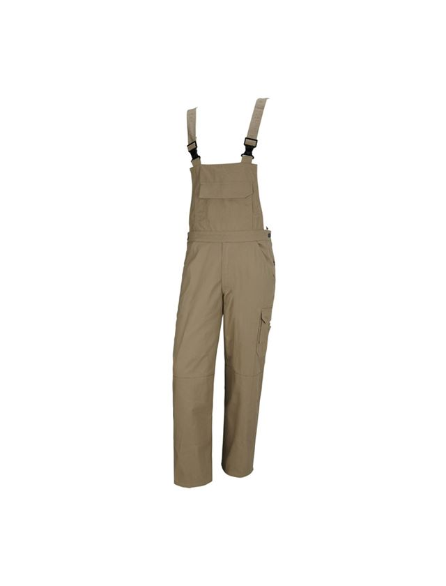 Pracovní kalhoty: STONEKIT Kalhoty s laclem Aalborg + khaki