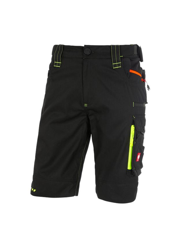 Pracovní kalhoty: Šortky e.s.motion 2020 + černá/výstražná žlutá/výstražná oranžová