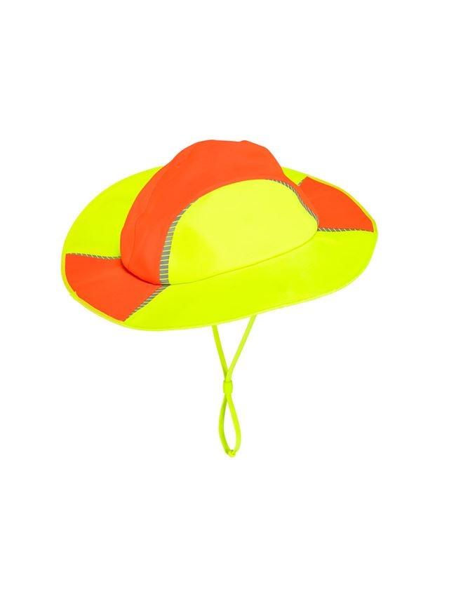 Doplňky: Funkční klobouk do deště e.s.motion 2020 + výstražná oranžová/výstražná žlutá