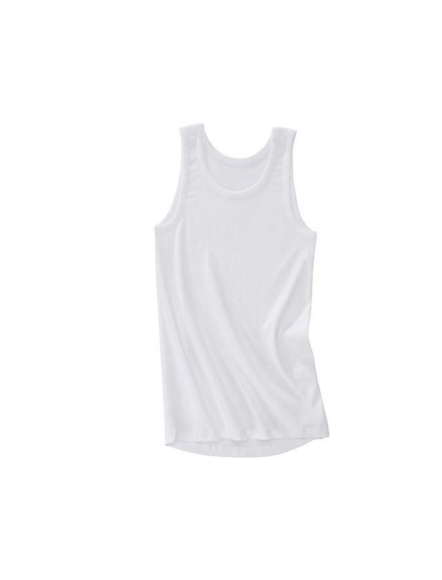 Spodní prádlo | Termo oblečení: e.s. Tílko z žebrované bavlny + bílá