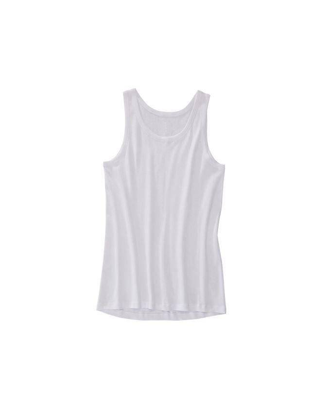 Spodní prádlo | Termo oblečení: e.s. Nátělník s jemným žebrováním classic + bílá