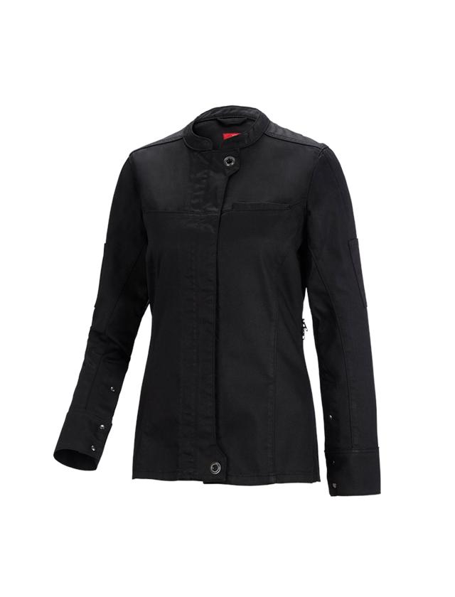 Pracovní bundy: Pracov.bunda dlo.rukáv.denim raw e.s.fusion,dámská + černá