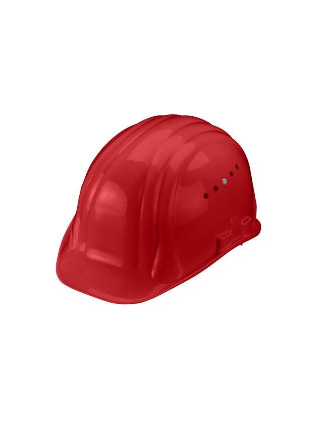 Ochranné přilby: Ochranná přilba Baumeister,6bodová,otočná zapínání + červená