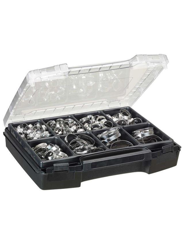 Sortiment drobných dílů: Hadicové spony, 150dílné