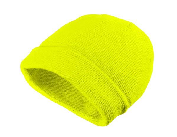 Čepice   kšiltovky  Zimní pletená čepice Neon + žlutá 068a4f96d0